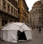 Abelardo Morell's Tent Camera on location in Florence