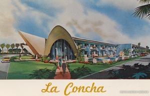 La Concha hotel, Las Vegas in a 1960s postcard.