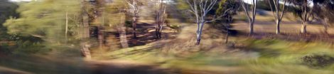 James McArdle (2004) The landscape in furious flight four colour inkjet print from digital camera images 800h x 3600w mm