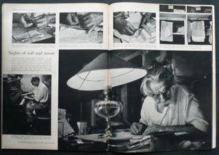 "W. Eugene  Smith, French Equatorial Africa. Gabon. Lambarene. 1954. ""Dr. Albert SCHWEITZER in his office""."