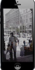 Mobile device camera app - taking screen showing Strizic transparent 'template' overlay