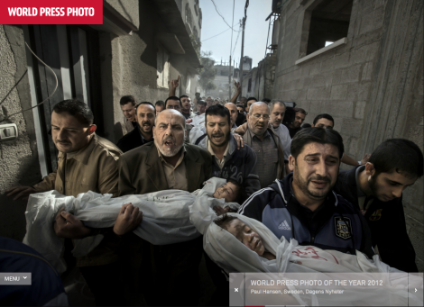 Paul Hansen (2012) Gaza Funeral as it appears on the World Press Photo website http://www.worldpressphoto.org