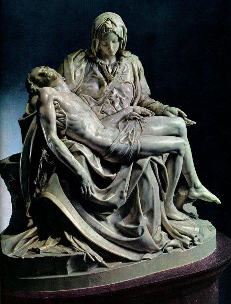Michelangelo Buonarroti: The Pietà (1498–1499), St. Peter's Basilica, Vatican City