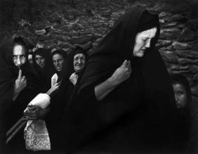 "W. Eugene  Smith View profile SPAIN. Extremadura. Province of Caceres. Deleitosa. 1951. Women mourning at Juan Carra Trujillo's funeral. From ""Spanish Village"" photo-essay."